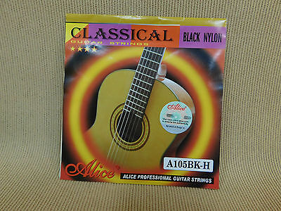 Alice A105BK-H (Black Nylon Hard Tension) Professional Classical Guitar Strings