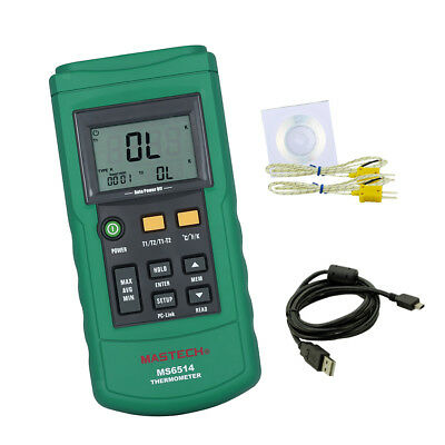 Digital Thermocouple Thermometer Dual-channel LCD Temperature Meter Tester