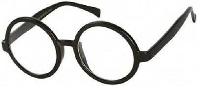 Brand New Kids / Adults Harry Potter Round Black Frame No Lens Glasses Costume