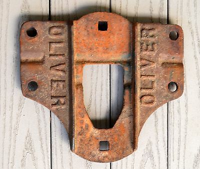 Antique Cast Iron Oliver Sign Farm Tractor Nameplate