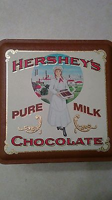 Vintage lot of 1992 Hershey's Pure Milk Chocolate and 1996 Hershey Park Tins