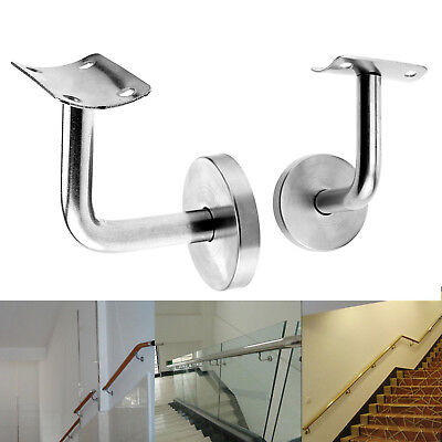 2 x Handrail Bannister Support Stair Rail Bracket Balustrade Fixing Wall Mounted