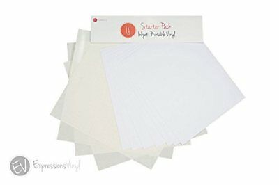Expressions Vinyl - Inkjet Printable Adhesive Vinyl Starter Pack - Contains