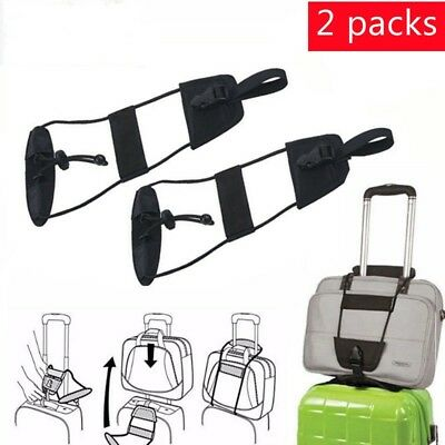 Adjustable Travel Luggage Suitcase Belt Add a Bag Strap Carry On Bungee Travel b