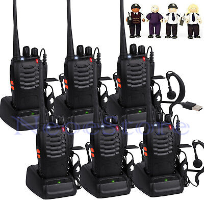 6pcs Baofeng Walkie Talkie UHF 400-470MHZ 2-Way Radio 16CH 5W BF-888S Long Range