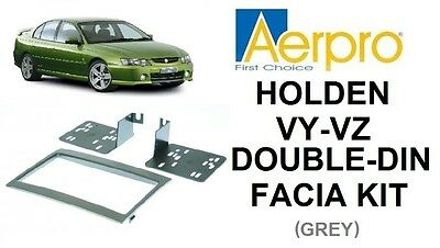 Aerpro - Holden Commodore Vy-Vz Double-Din Facia Kit Dash Panel Grey
