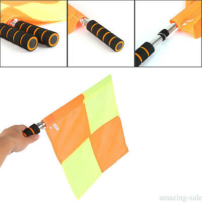 Referee Linesman Flags Rugby Soccer Hockey Football Diamond Style Flag Q2W