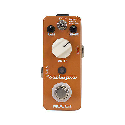 New Mooer Varimolo Digital Tremolo Micro Electric Guitar Effects Pedal