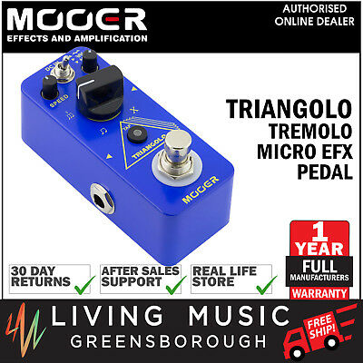New Mooer Triangolo Digital Tremolo Micro Electric Guitar Effects Pedal