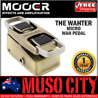NEW Mooer The Wahter Wah Guitar Effects Pedal True Bypass