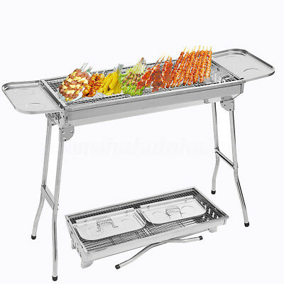 Portable BBQ Barbecute Grill Roaster Rotisserie Range Charcoal Outdoor Household