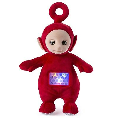 """Genuine Teletubbies 10"""" Lullaby Po Red Toy For Kids Plays Music and Light show"""