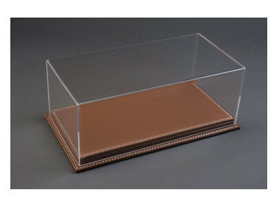 Luxury Brown Leather Stitched Base Display Case ATL10071