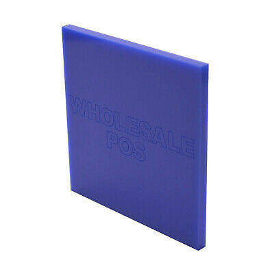 Blue 750 Coloured Perspex 3mm Thick Acrylic Sheet Custom Cut Panels Shower Wall