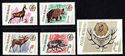 Romania 1965 Game Animals and Trophies Complete Set of Stamps MNH