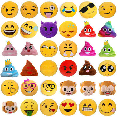 Soft 50 Styles Emoji Emoticon Pillow Cushion Stuffed Plush Birthday Gift Toy P1