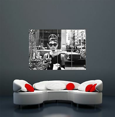 Audrey Hepburn Sunglasses Breakfast At Tiffanys Giant Art Poster Print  Wa462