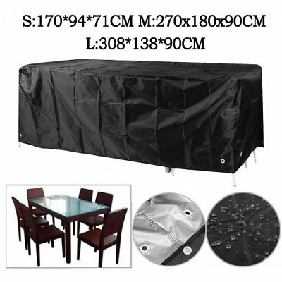 Outdoor 600D Polyeter Waterproof 6/8/10 Seater Furniture Cover UV Protection AG