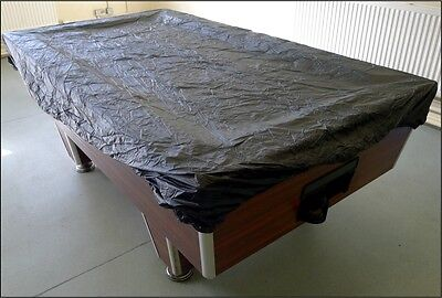 BLACK FITTED 7ft Snooker  Pool Table Cover - Water Resistant Material