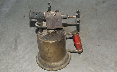 VINTAGE BRASS BLOW TORCH, BLOWTORCH mfg Sycamore Ill ID#139