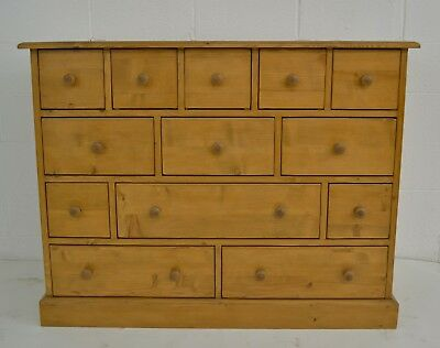 Vintage Pine Thirteen Drawer Apothecary Chest