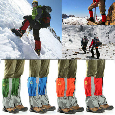 Waterproof Snow Ski Gaiters Leg Cover Boot Legging Climbing Hiking Walking Shoes
