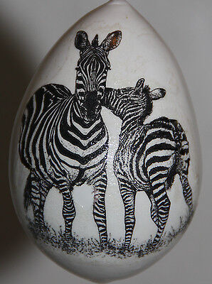 gourd Christmas ornament with zebras