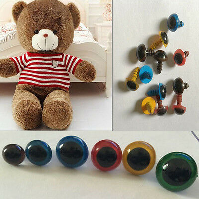 100pcs 8mm Plastic Safety Eyes For Teddy Bear Doll Animal Puppet Craft  tb