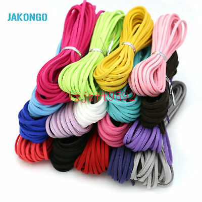 Flat Faux Suede Korean Velvet Leather Cord DIY Rope Thread Jewelry Making 3mm