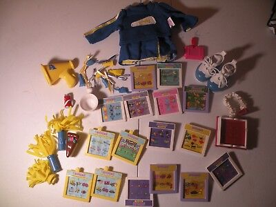Amazing ALLY Doll Cheerleader Clothes Shoes Cartridge Cards Cake Book Pom Poms