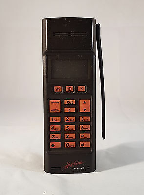 Vintage collectable Ericsson Hotline phone with charger and bag