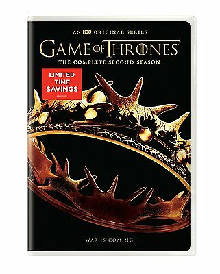 Game of Thrones: The Complete Second Season (DVD, 5-Disc Set, 2016) BRAND NEW