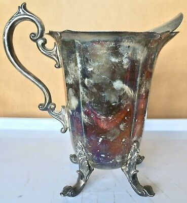 """Vintage Silver On Copper Pitcher """"ra109"""""""