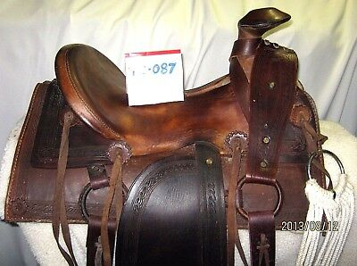 Rare ANTIQUE Complete 1870s Antique Sam Stagg Rigged Cowboy Saddle MAKE OFFER