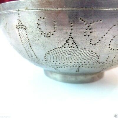 Vintage Turkish Solid Brass/Bronze Bowl with Islamic Inscriptions