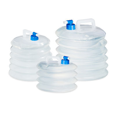 Folding Water Container Set of 4, Foldable Canister, Camping or Festivals, Drink