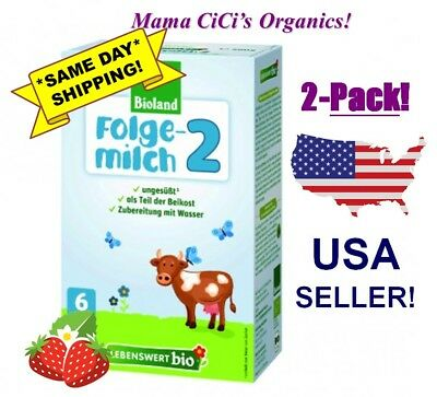 *FREE EXPEDITED SHIP* Lebenswert Organic 2 BOXES Stage 2 Baby Milk Formula