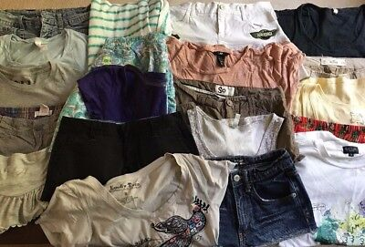 Lot of 20 Junior, Young Women Summer Clothing, Sizes Mixed, Shorts, Skirts