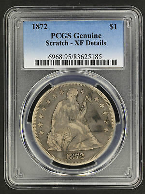 1872 Seated Liberty Silver Dollar PCGS XF Details Scratch -159130