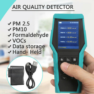 AU PM2.5 PM10 Formaldehyde Detector Air Tester Gas Quality Laser Test Meter VOSs