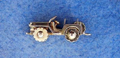 14K Yellow Gold Willys Jeep Charm Pendant