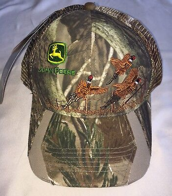BRAND NEW!!! John Deere Realtree Camo Mesh Hat Cap w Embroidered Pheasants
