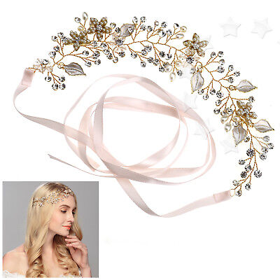 Bridal Wedding Headpiece Crystal Pearls Headband Princes Bridesmaid Accessories