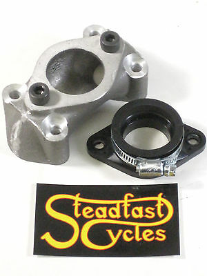PWK manifold and flange for Triumph TR6 TR7 Keihin PWK carb intake 30mm or 26mm