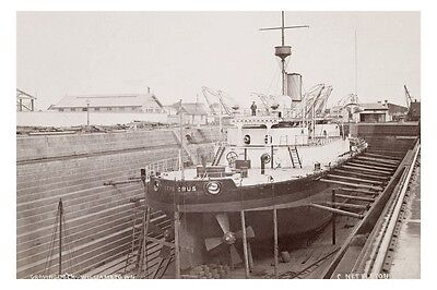 CERBERUS - Albert Graving Dock Williamstown c1879 modern digital photo Postcard
