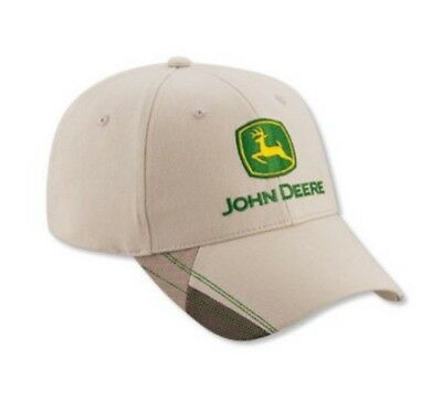BRAND NEW!!! John Deere Men's Mesh Patch Hat/Cap (Cream) - LP52381
