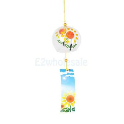 Japanese Glass Wind Chime Wind Bell Hanging Ornament Window Garden Decor #2