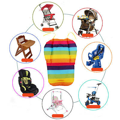 Thick Rainbow Infant Stroller Car Seat Pushchair Cotton Cover Mat Random UK