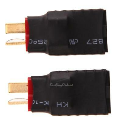 2pcs Wireless Female for Traxxas to T-Plug Deans Style Connector battery Adapter