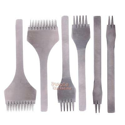 2/5/10 Prong Leather Craft Tools Hole Chisel Graving Stitching Punch Tool Set
